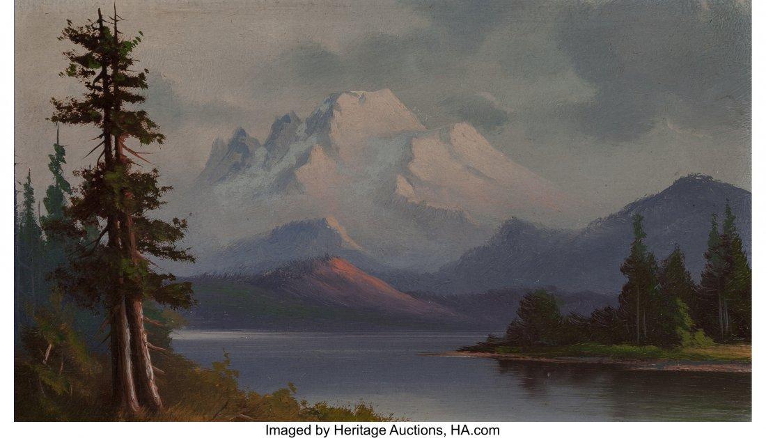 63950: American School (20th Century) Pair of Mountain