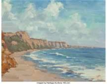63953: Ron Deak (American, 20th Century) Rock and Sea,