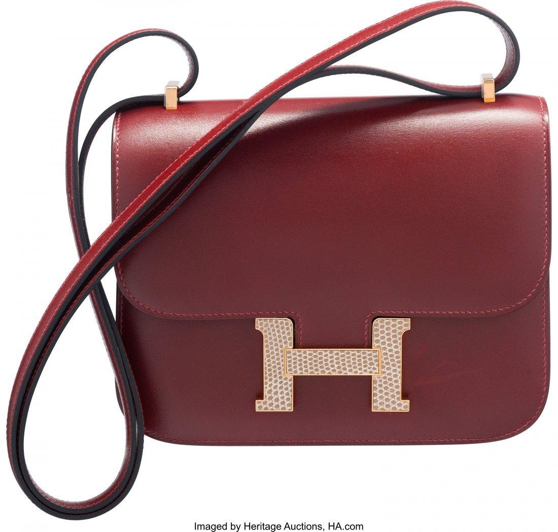 58071: Hermes Limited Edition 18cm Rouge H Calf Box Lea