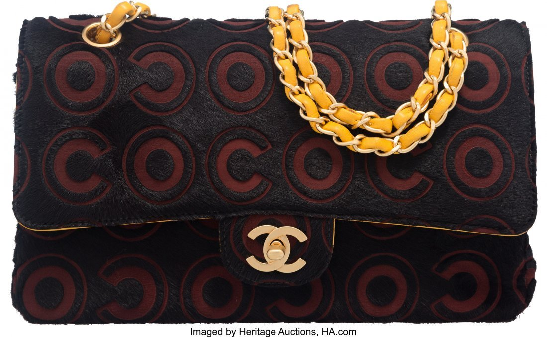 58028: Chanel Limited Edition COCO Black Ponyhair and Y
