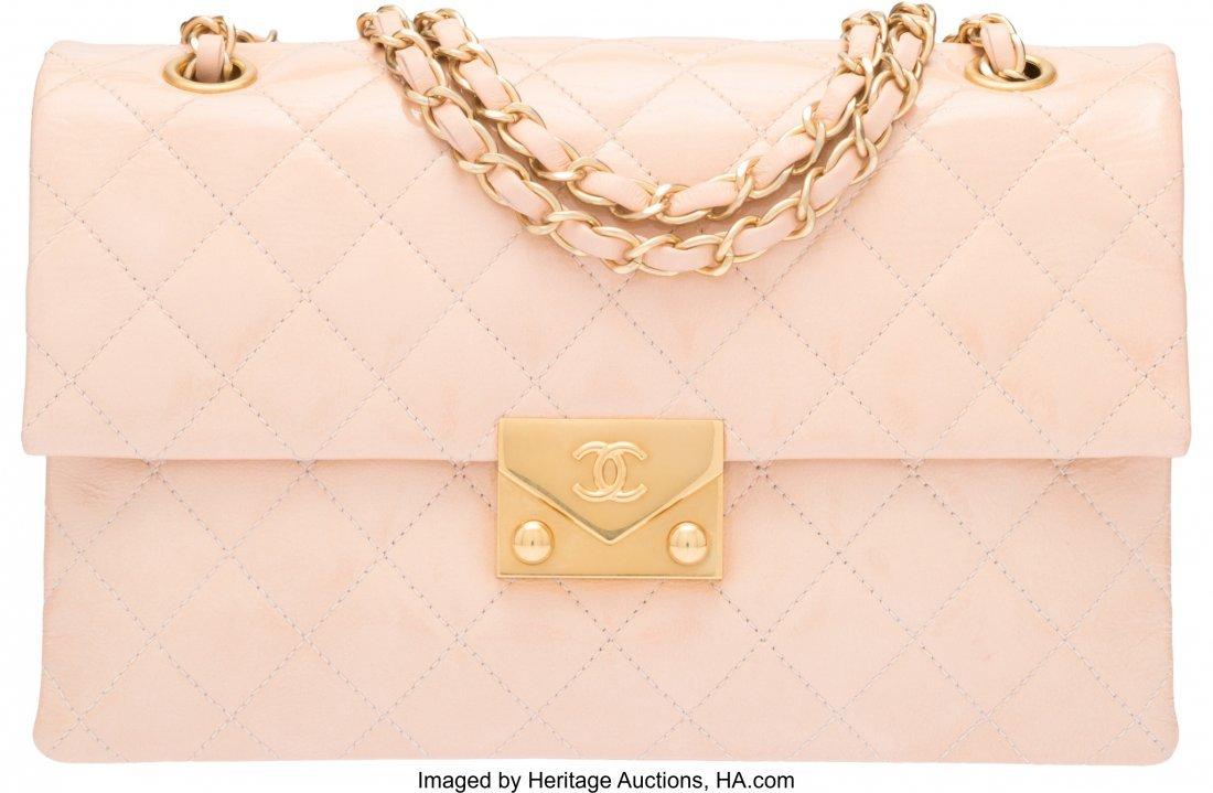 58042: Chanel Light Blush Pink Patent Goatskin Leather