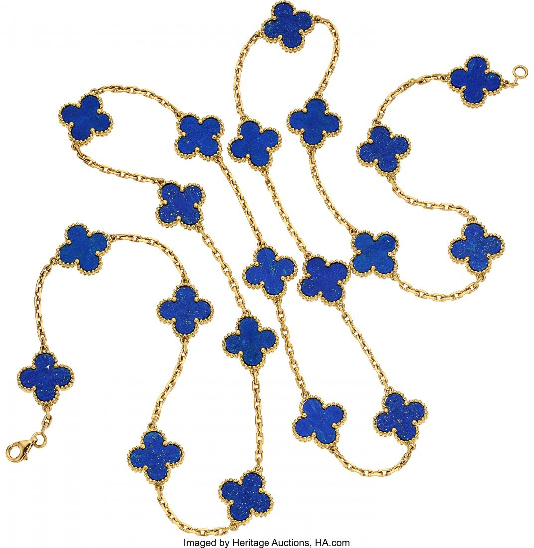 55095: Lapis Lazuli, Gold Necklace, Van Cleef & Arpels