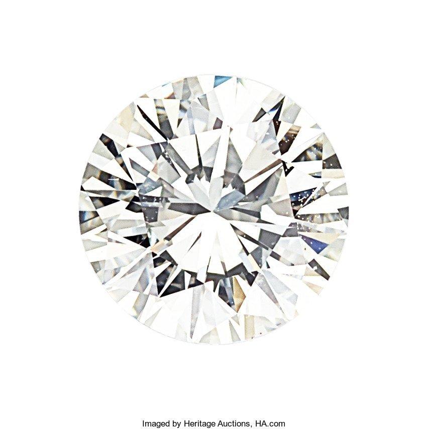 55104: Unmounted Diamond  The round brilliant-cut diamo