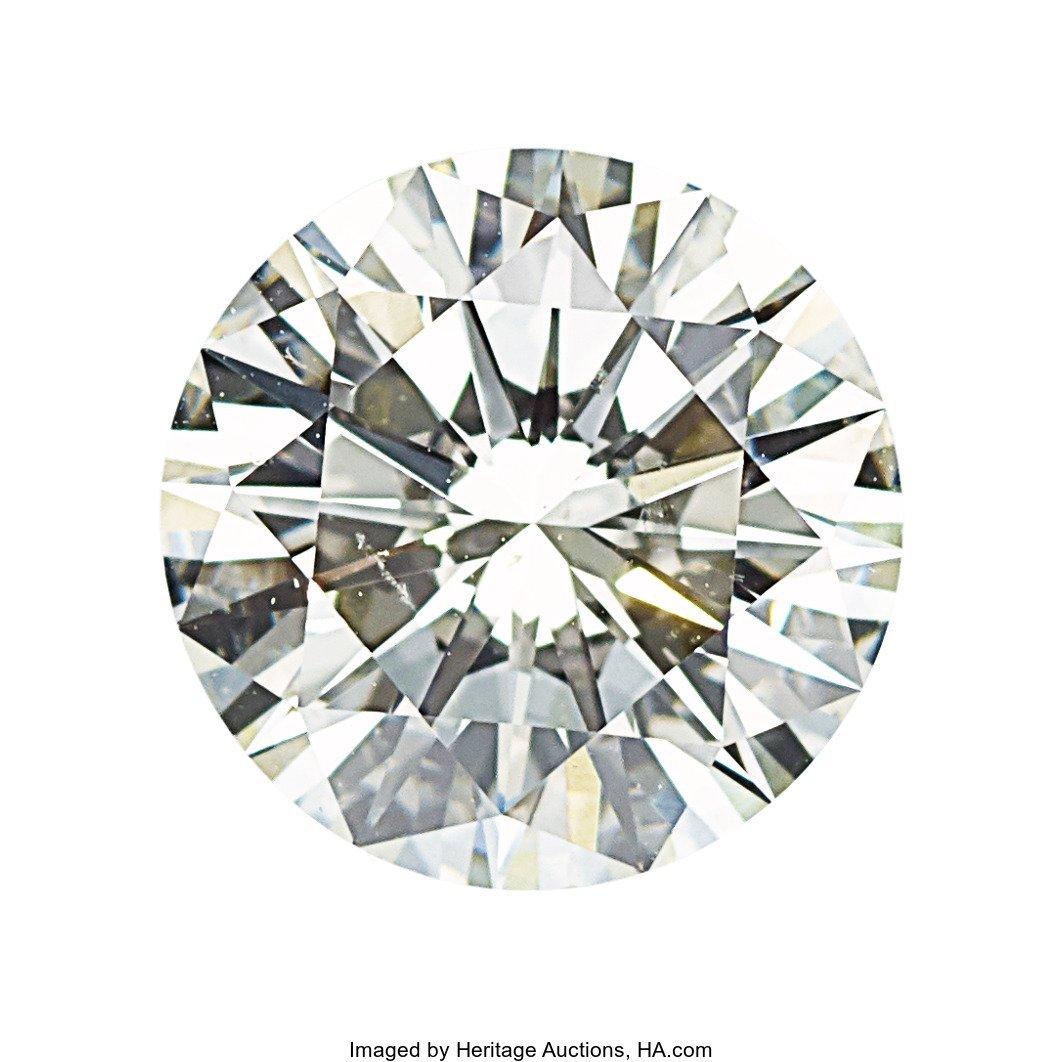 55105: Unmounted Diamond  The round brilliant-cut diamo
