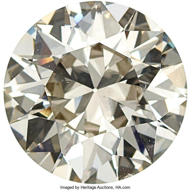 55106: Unmounted Diamond  The round brilliant-cut diamo