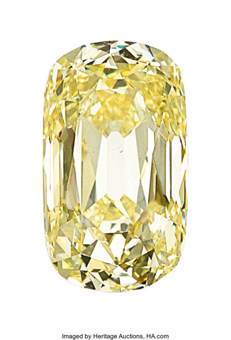 55107: Unmounted Fancy Yellow Diamond  The modified cus