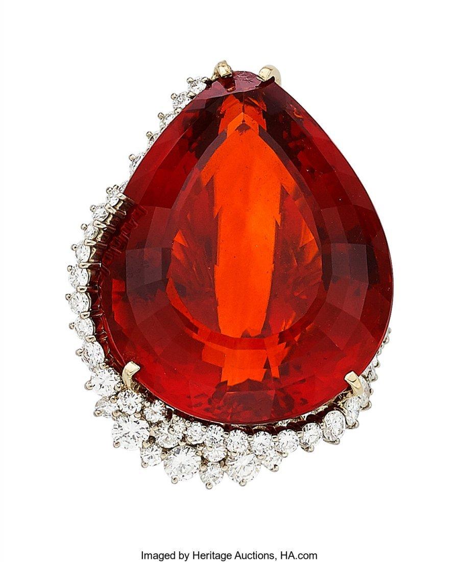 55022: Citrine, Diamond, Gold Ring, H. Stern  The ring