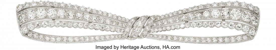 55204: Art Deco Diamond, Platinum Brooch, Dreicer & Co.