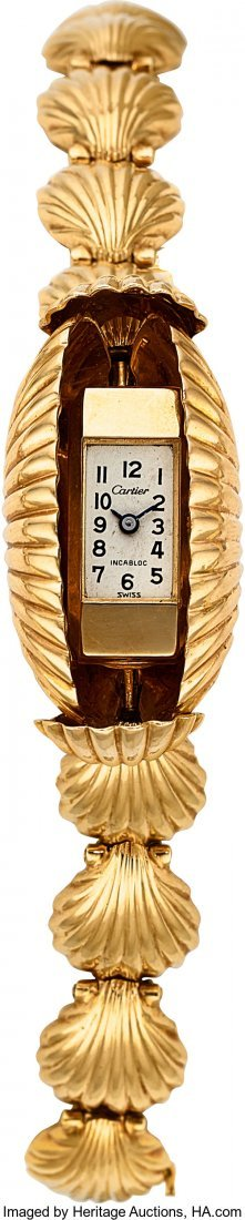 55231: Retro Swiss Lady's Gold Covered Dial Watch  Case