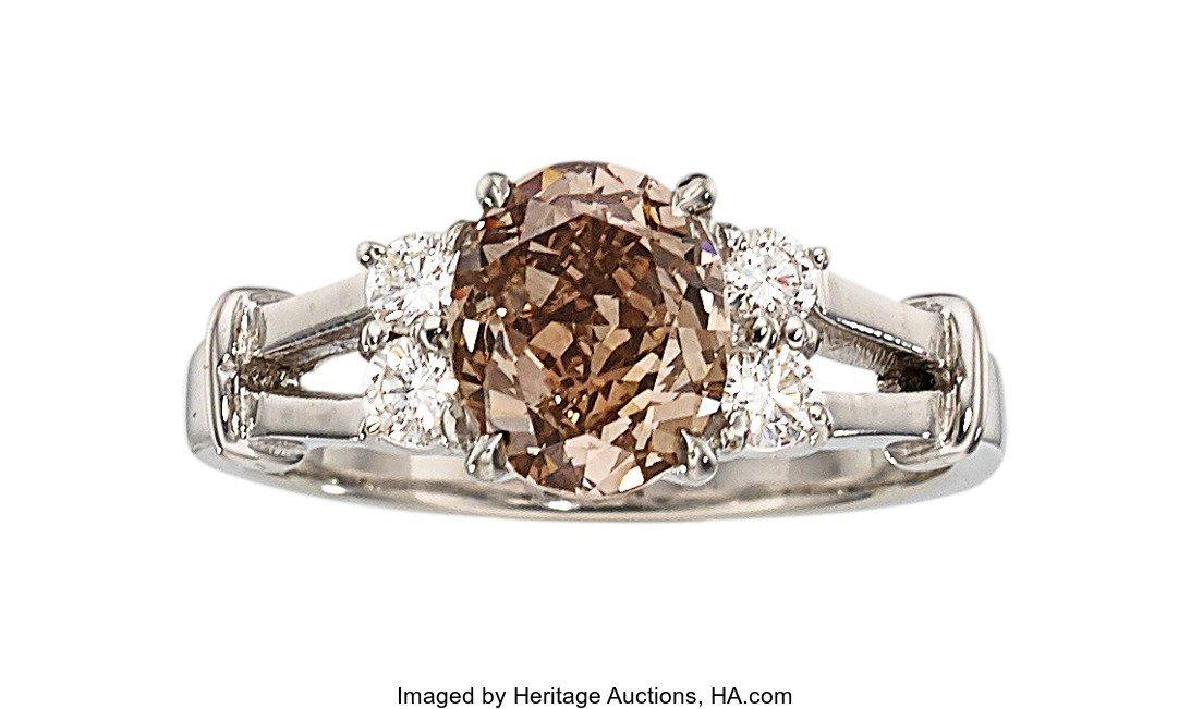 55150: Fancy Dark Brown Diamond, Diamond, Platinum Ring