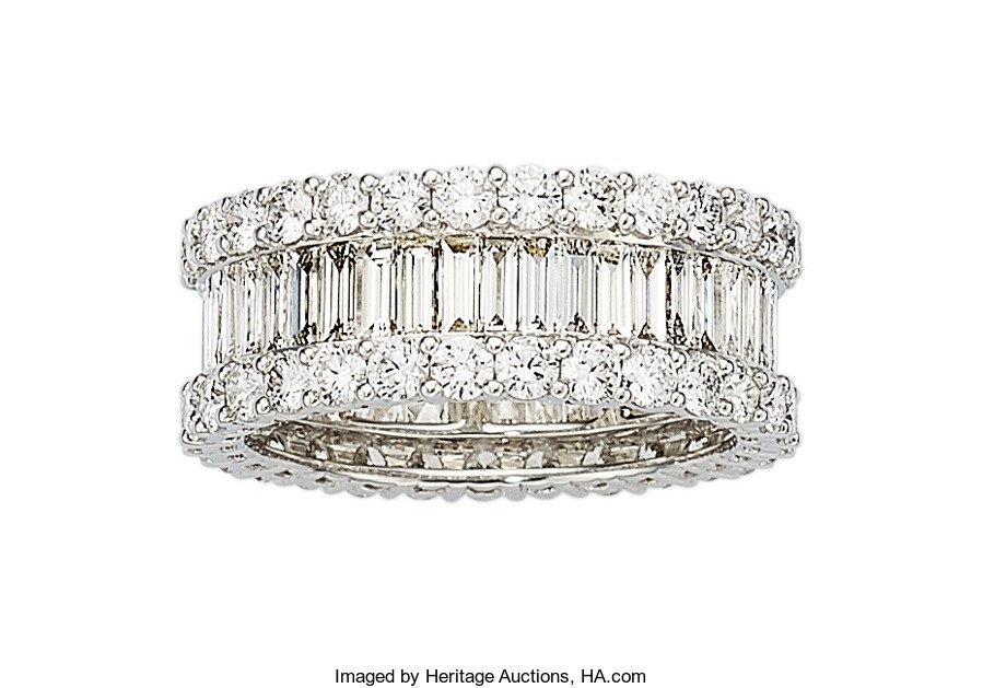 55332: Diamond, White Gold Eternity Band  The ring feat