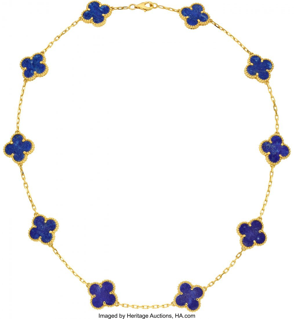 55168: Lapis Lazuli, Gold Necklace, Van Cleef & Arpels