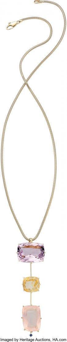 55170: Multi-Stone, Gold Necklace, H. Stern  The Sunris