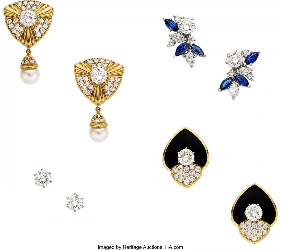 55082: Diamond, Multi-Stone, Cultured Pearl, Platinum,