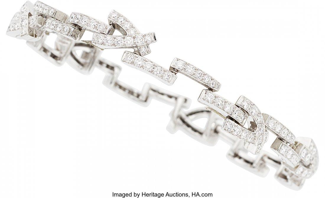 55086: Diamond, White Gold Bracelet, Van Cleef & Arpels