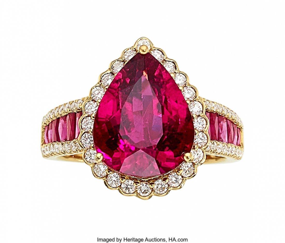 55262: Rubellite Tourmaline, Pink Sapphire, Diamond, Go
