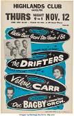 89316 Drifters Highlands Club Concert Poster 1959