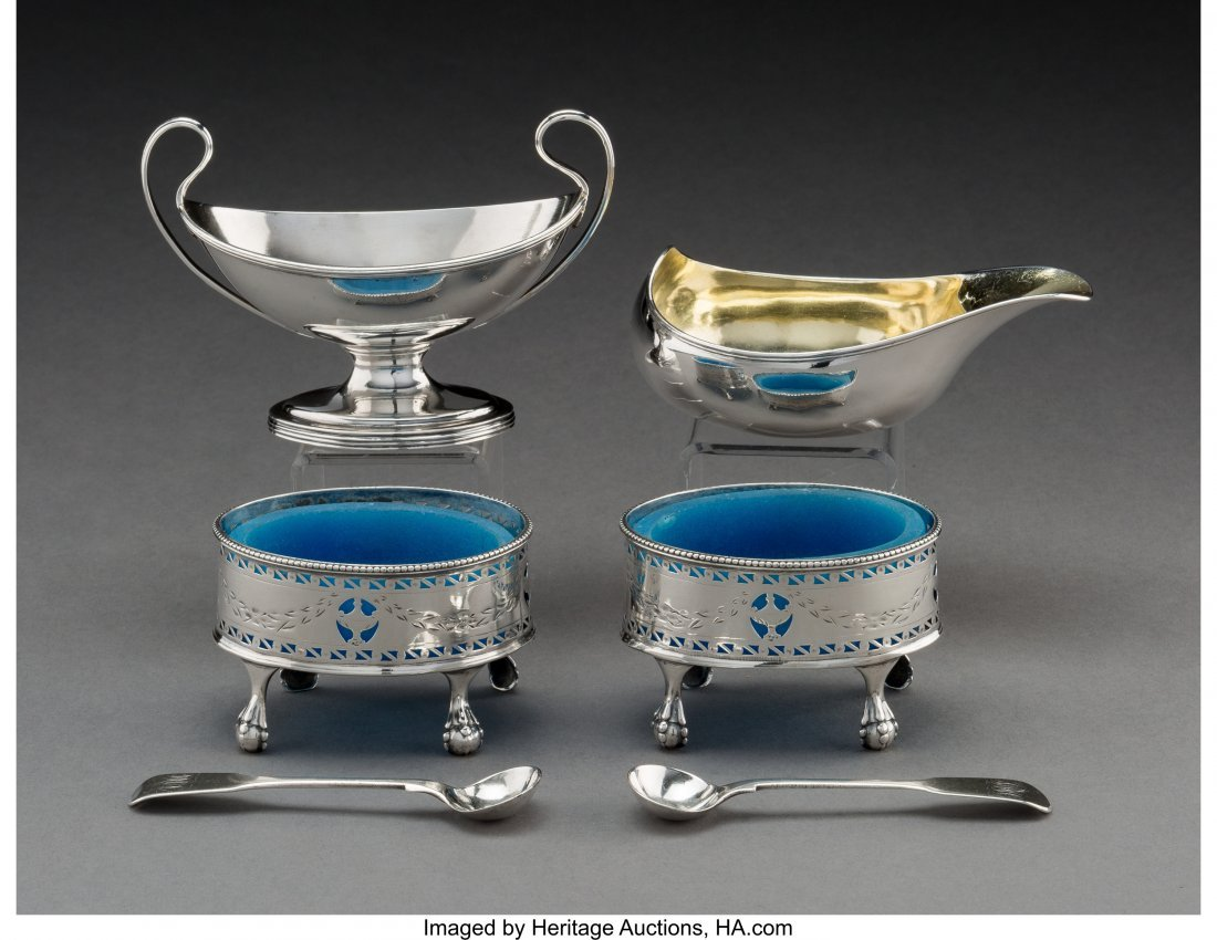 74006: Six Assorted George III Silver Table Items, Lond