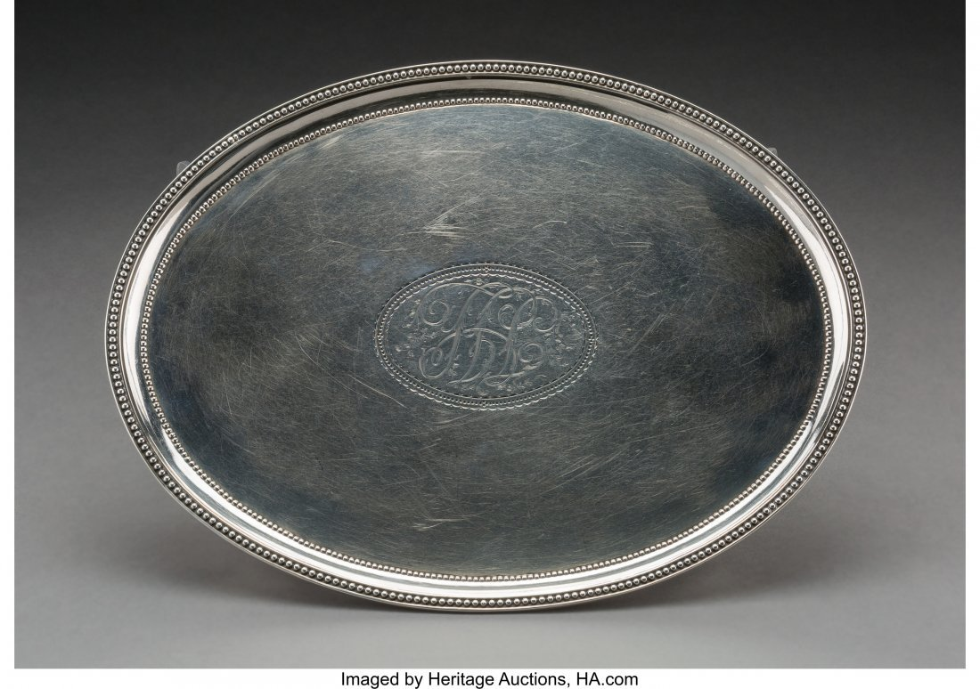 74010: A John Schofield George III Silver Footed Salver
