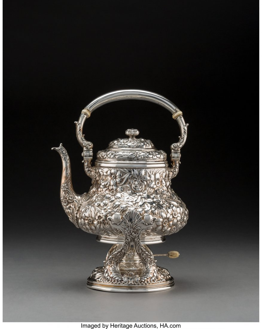74127: A Whiting Mfg. Co. Silver Floral Repoussé Hot W