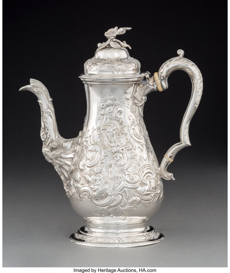 74014: A John Kidder George III Silver Coffee Pot in th