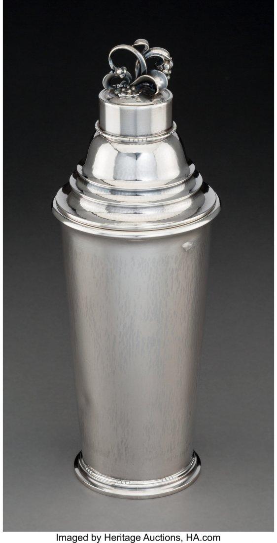 74187: A Georg Jensen No. 426C Silver Cocktail Shaker,