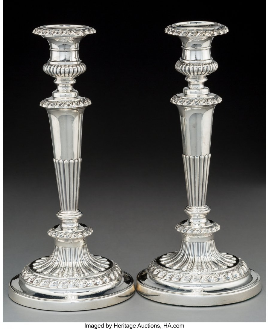 74018: A Pair of John & Thomas Settle Candlesticks, She