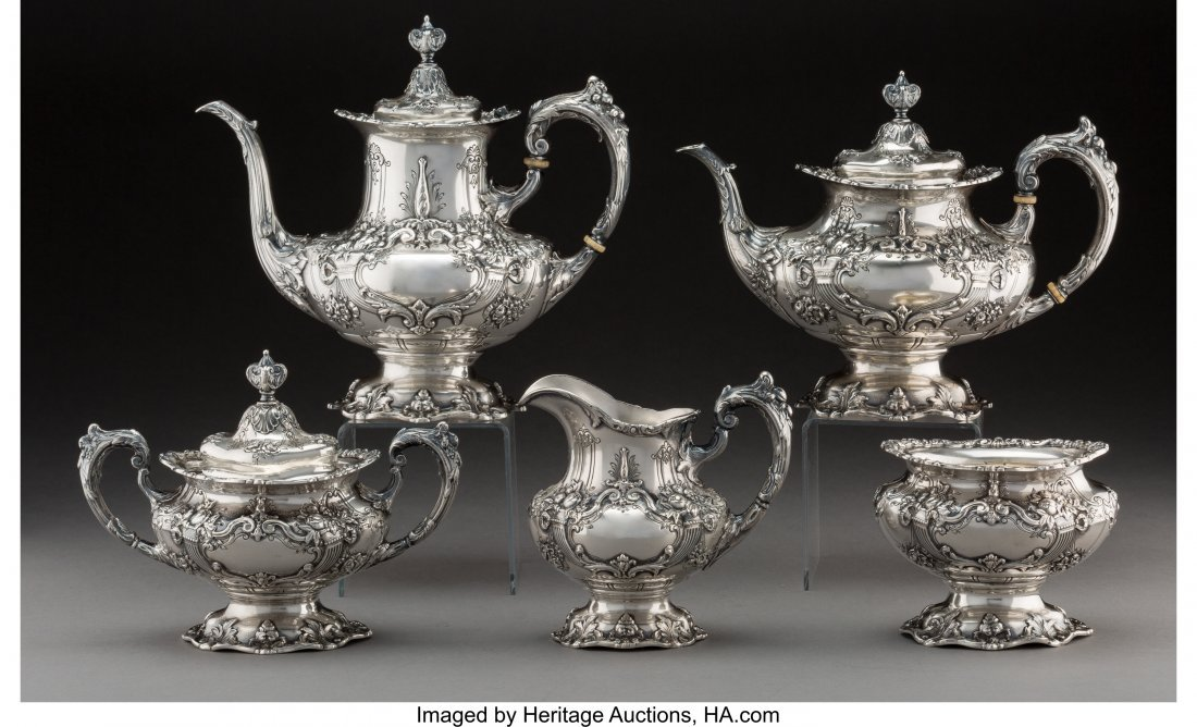 74137: A Five-Piece Reed & Barton Francis I Pattern Tea