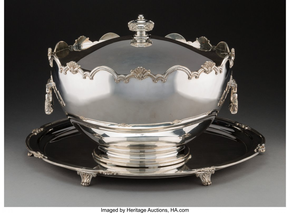 74023: A Very Large Garrard & Co. Silver Covered Montei