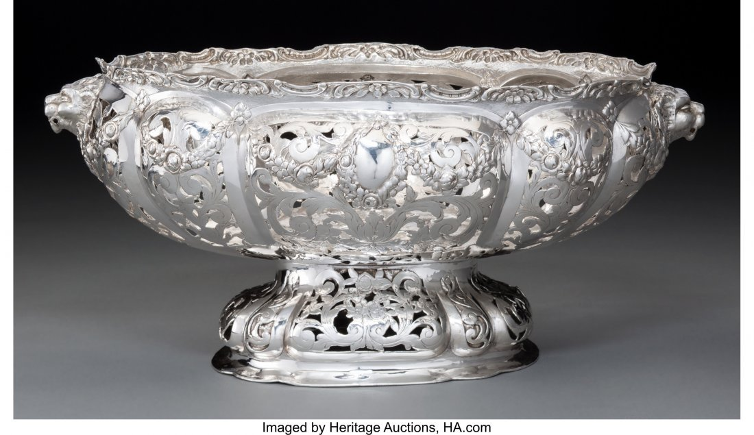 74146: An American Silver Reticulated Centerpiece Bowl,