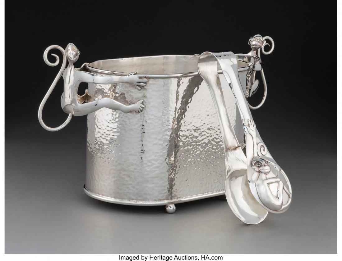 74206: An Emilia Castillo Silver-Plated Monkey Ice Buck