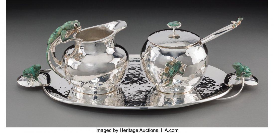 74208: A Four-Piece Emilia Castillo Silver-Plated and M