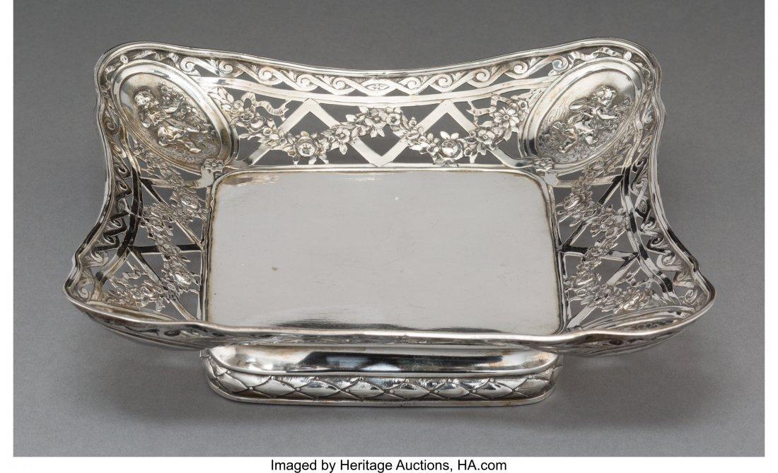 74046: A German Silver Reticulated Dessert Dish, Hanau,