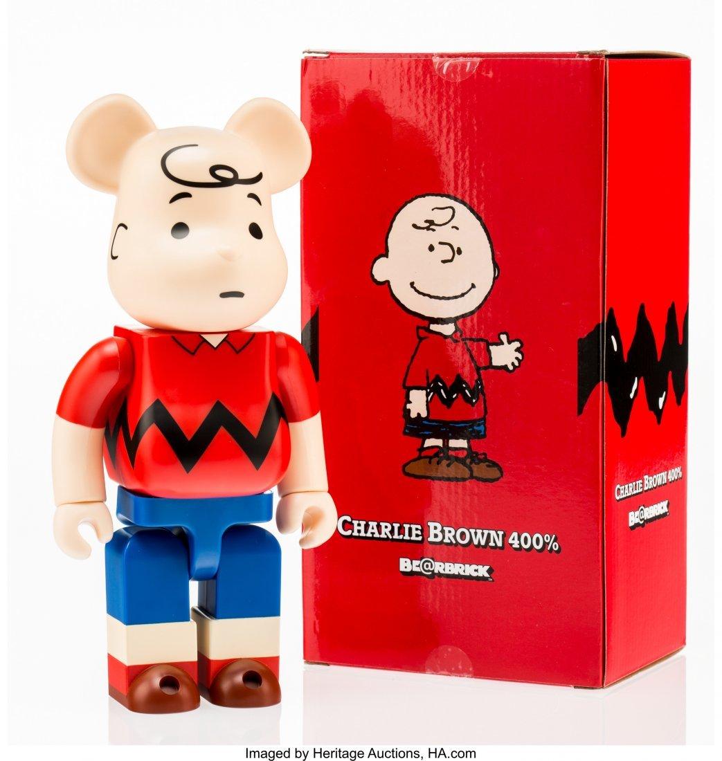 11204: BE@RBRICK X Peanuts Charlie Brown 400%, 2014 Pai