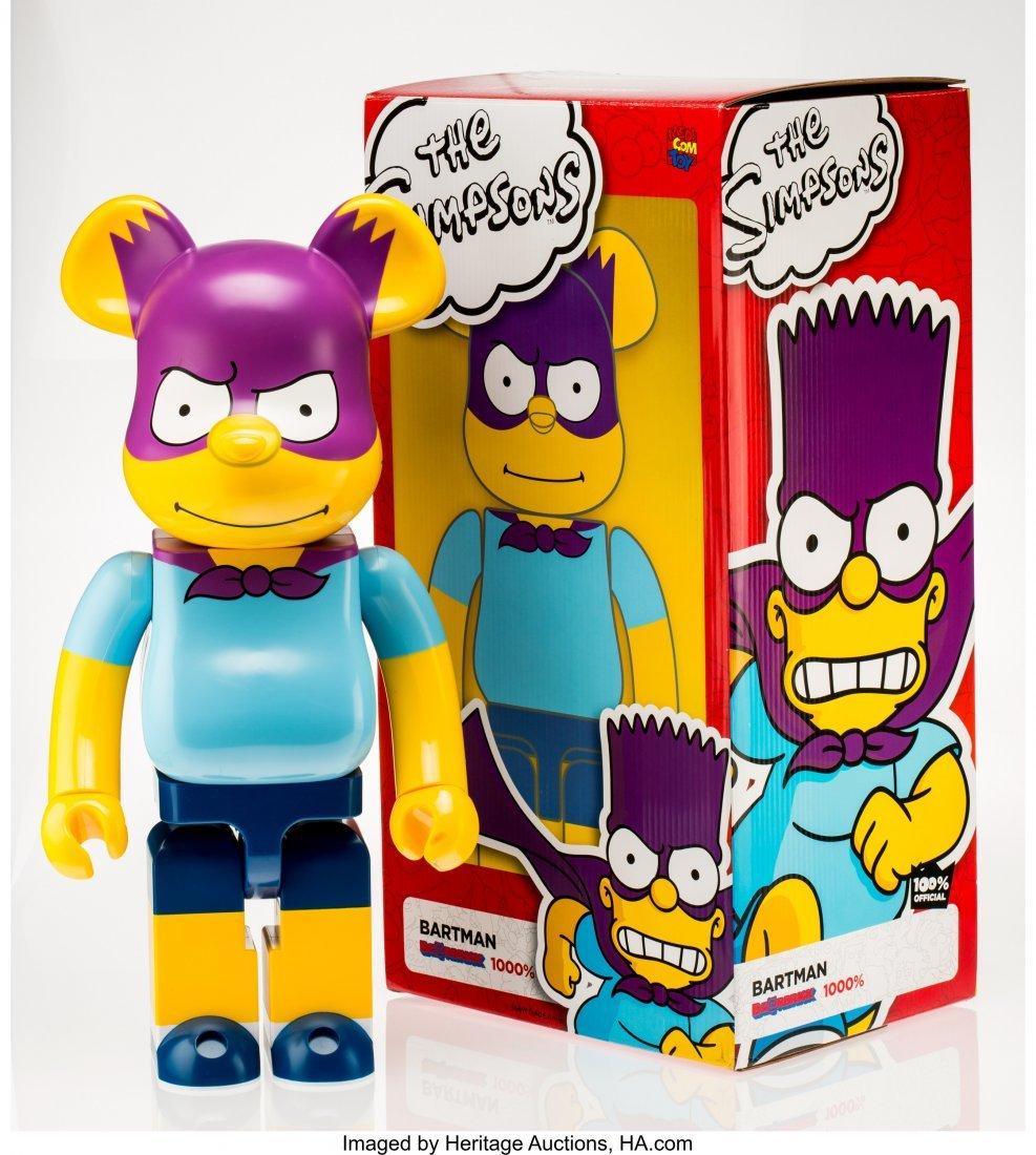 11221: BE@RBRICK X The Simpsons Bartman 1000%, 2017 Pai
