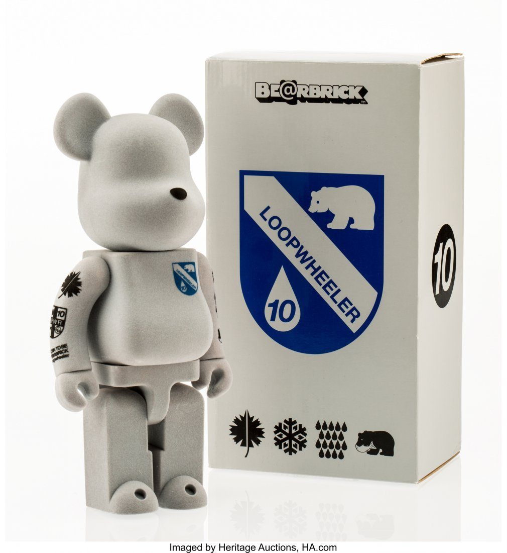 11156: BE@RBRICK Loopwheeler 400%, 2009 Cast resin, wit