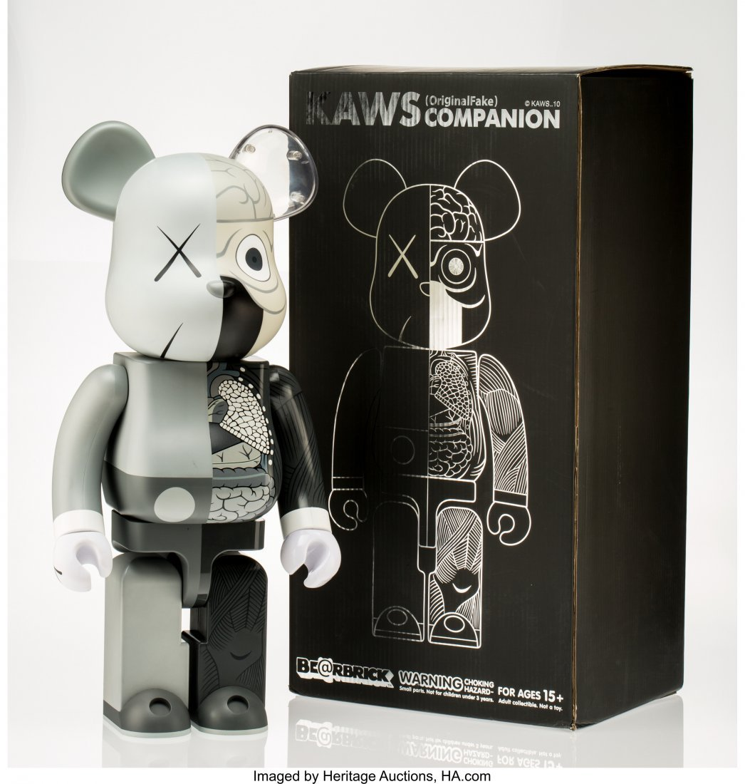 11072: KAWS X BE@RBRICK Dissected Companion 1000% (Grey