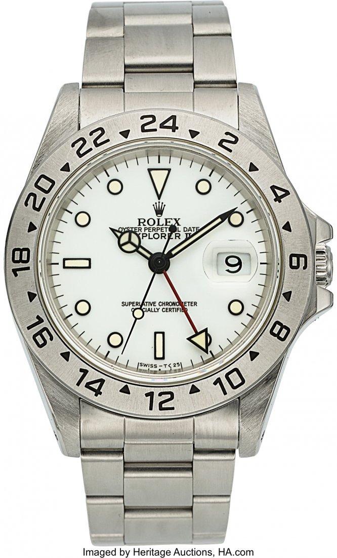 54171: Rolex, Ref.16570, Explorer II, Circa 1995  Case: