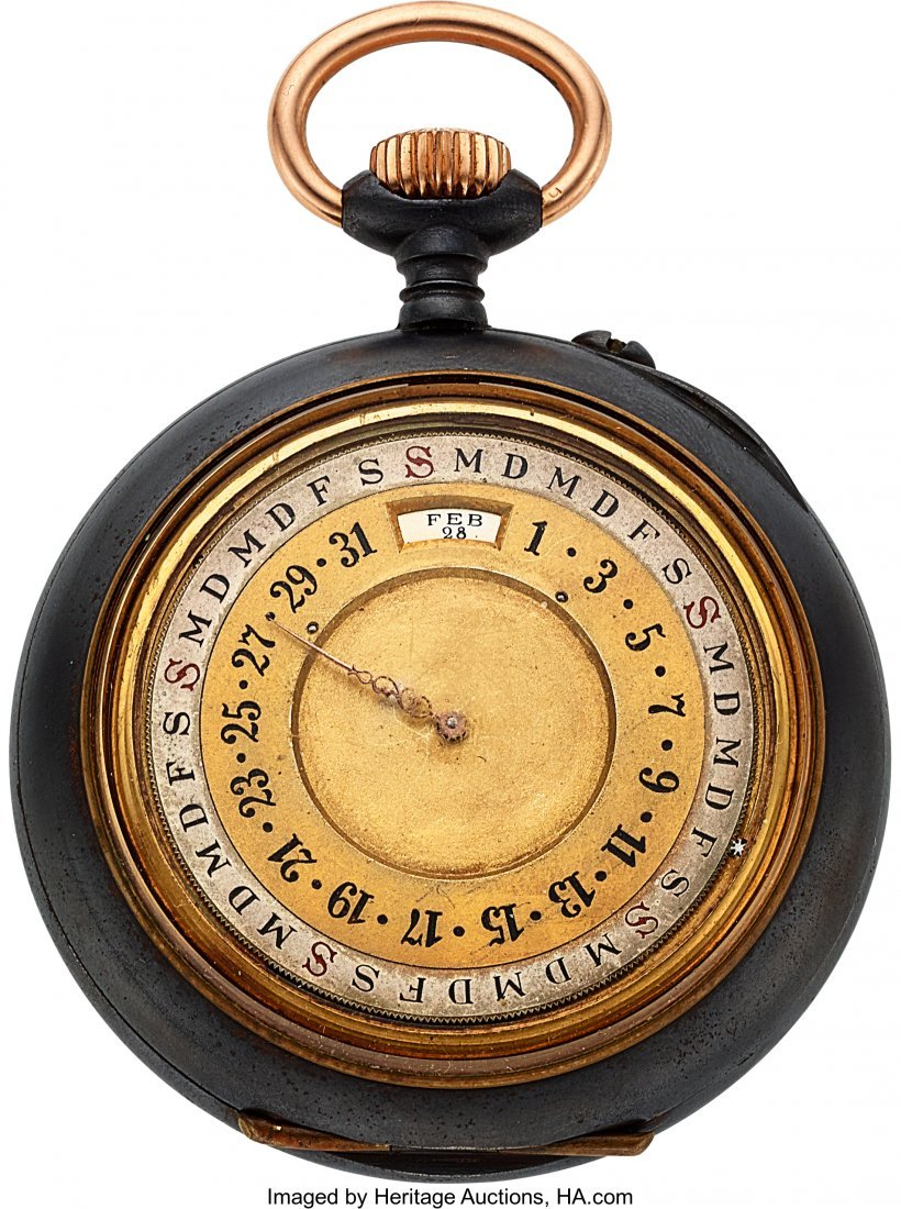 54345: Swiss Calendrier Brevet Double Dial Calendar Moo - 2