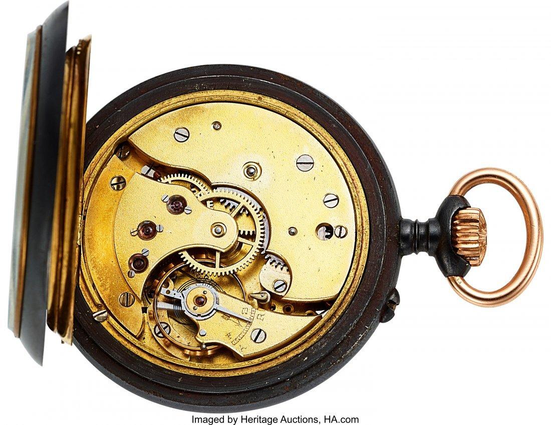54345: Swiss Calendrier Brevet Double Dial Calendar Moo - 3