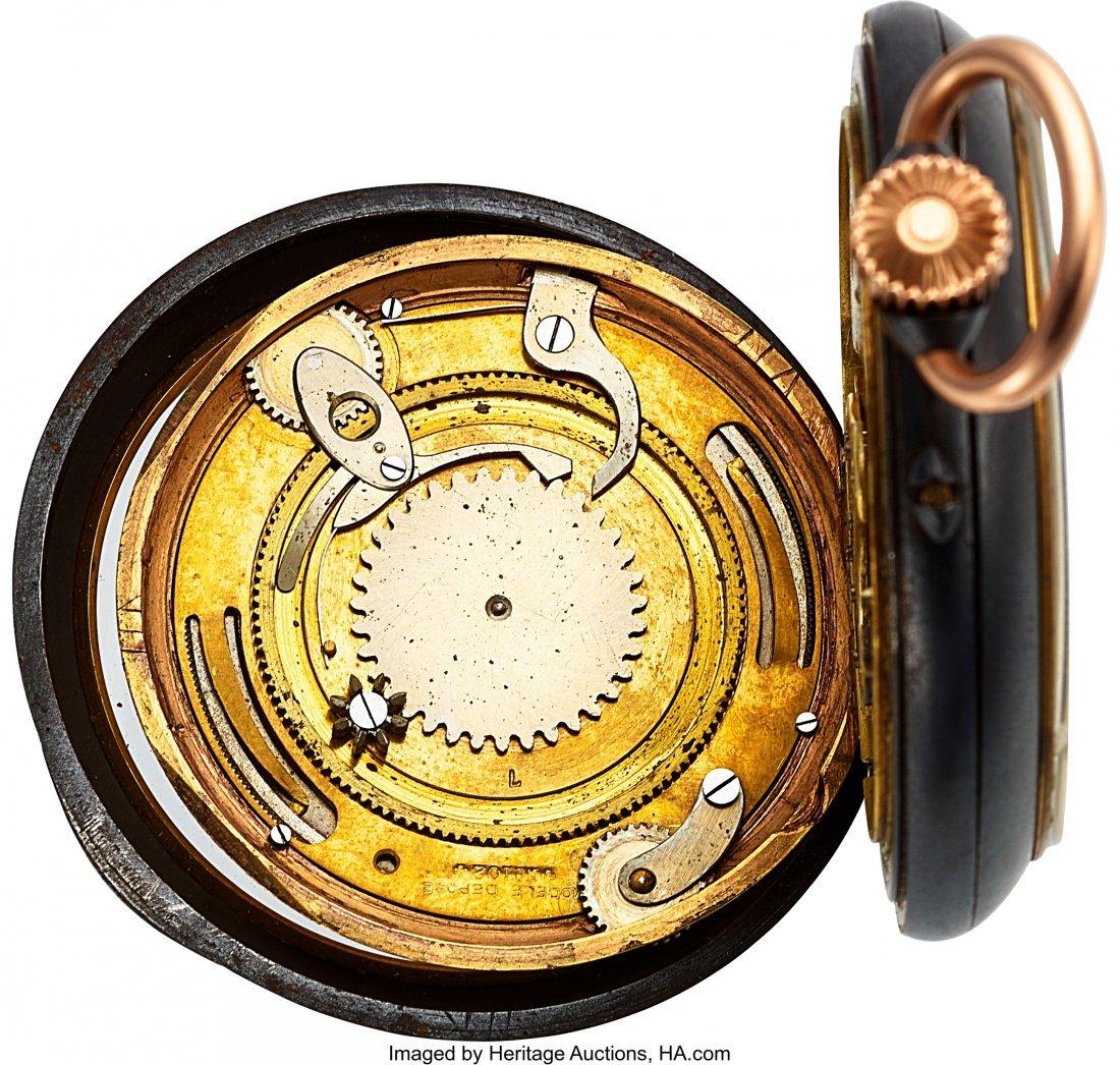 54345: Swiss Calendrier Brevet Double Dial Calendar Moo - 4