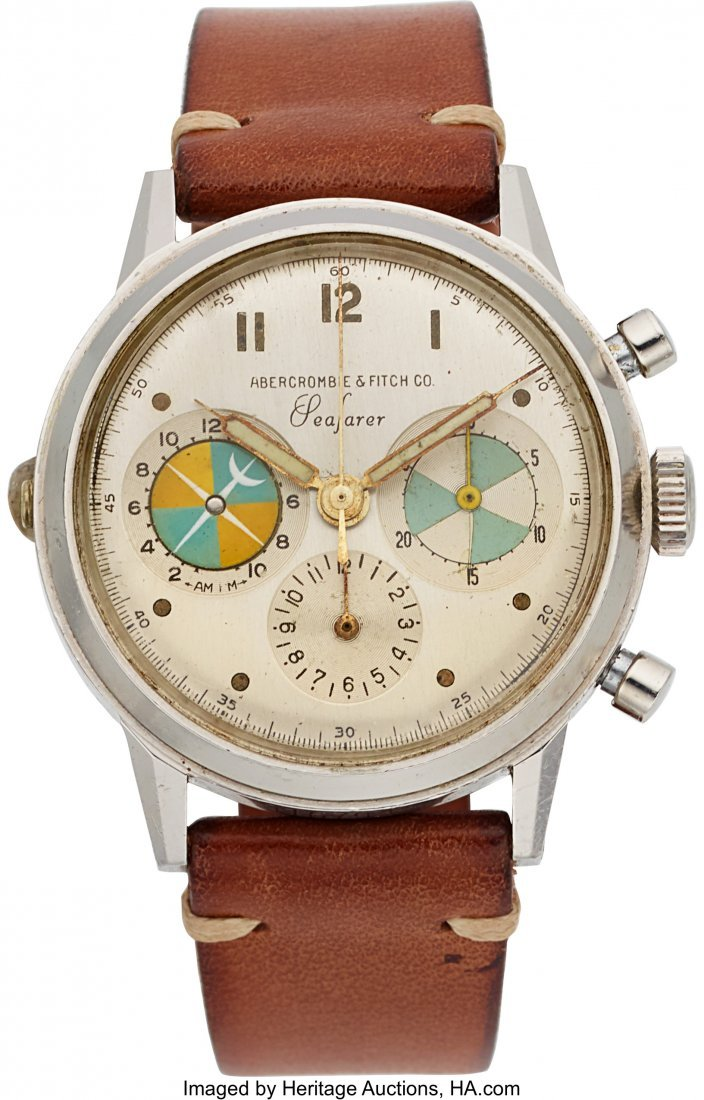 """54260: Heuer/Abercrombie & Fitch, Ref: 2443, """"Straight"""