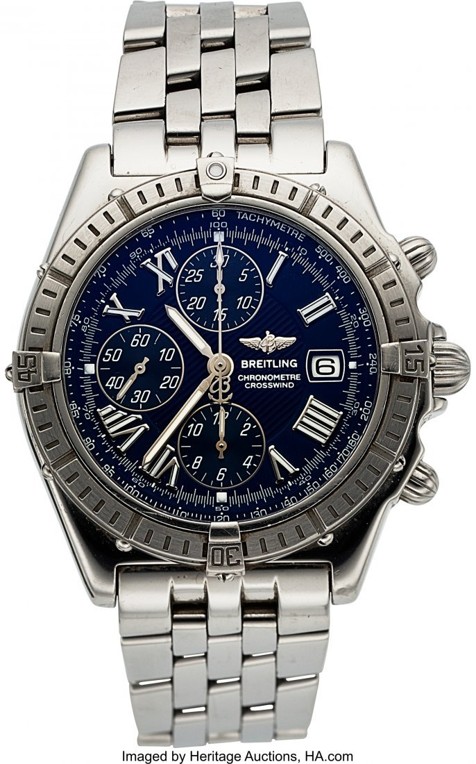 54091: Breitling A13355 Steel Crosswind Automatic Chron