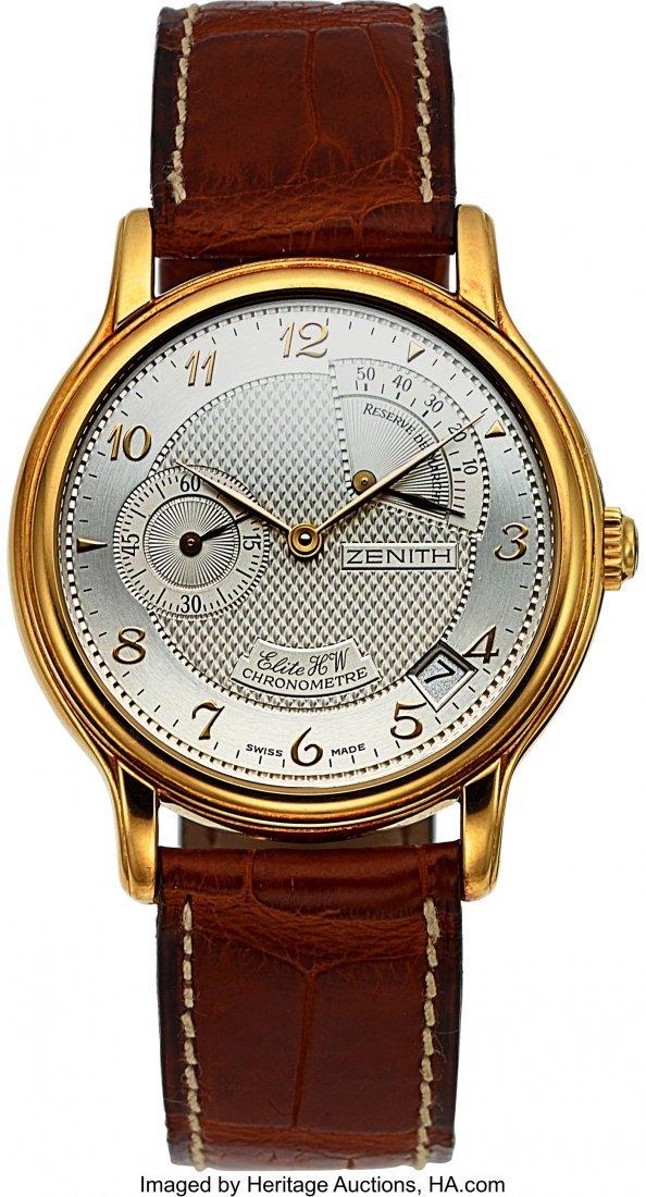 54095: Zenith Elite HW Chronometer 18k Gold Automatic