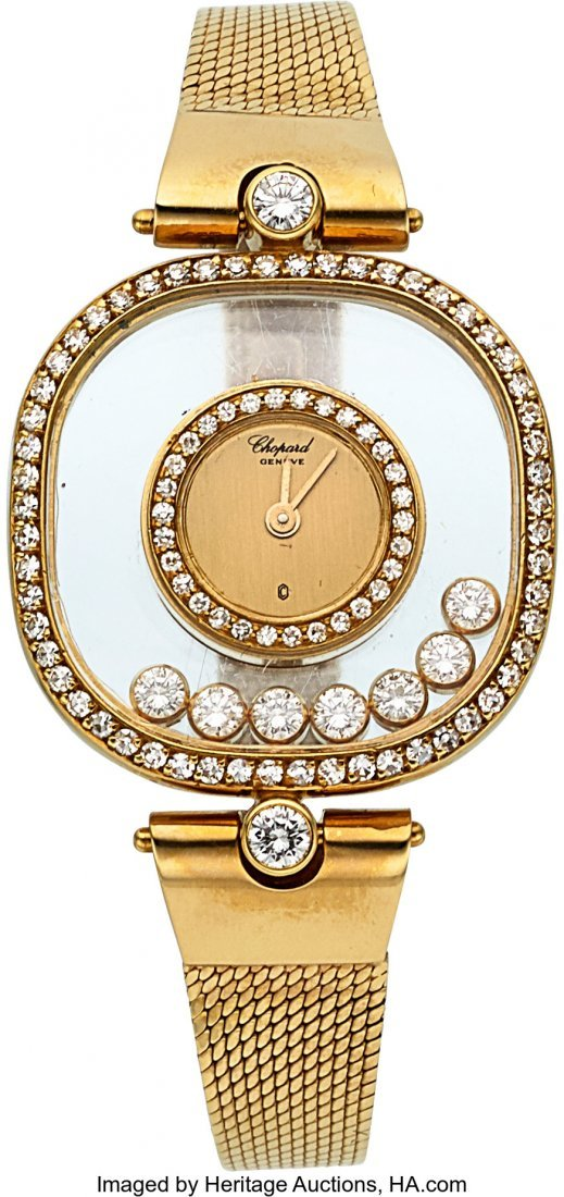 54184: Chopard, Happy Diamonds lady`s wristwatch 5196