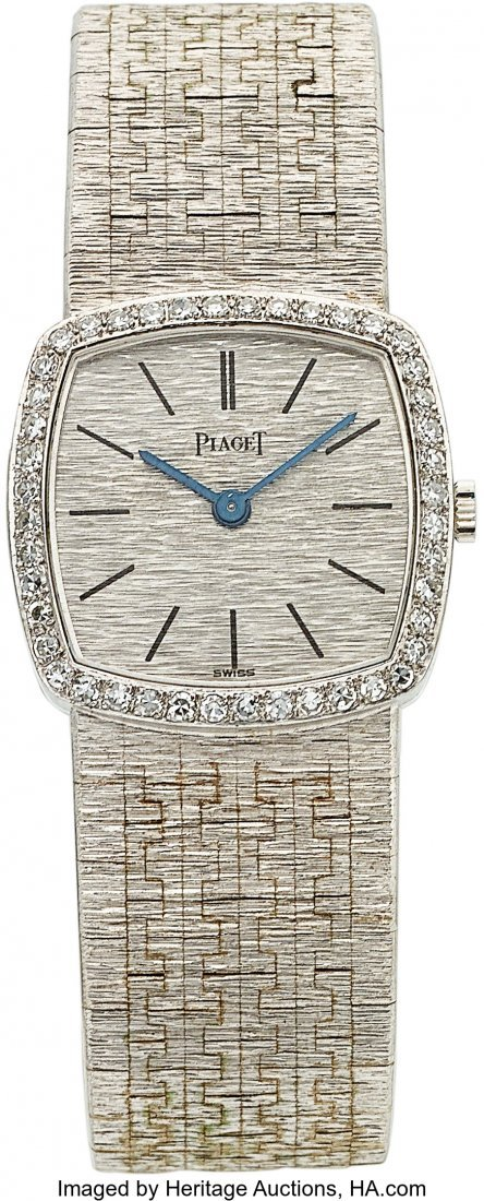 54186: Piaget Lady's Diamond, White Gold Watch, circa 1