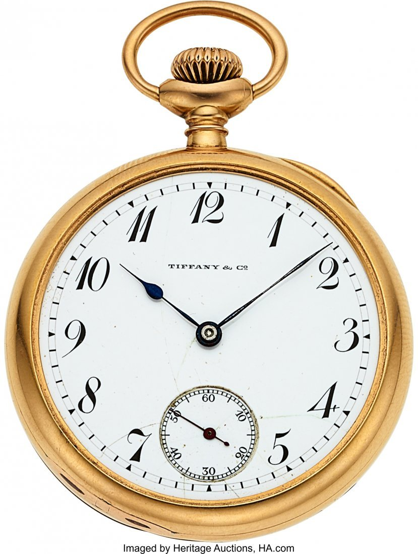 54357: Patek Philippe For Tiffany & Co. 18k Gold Watch,
