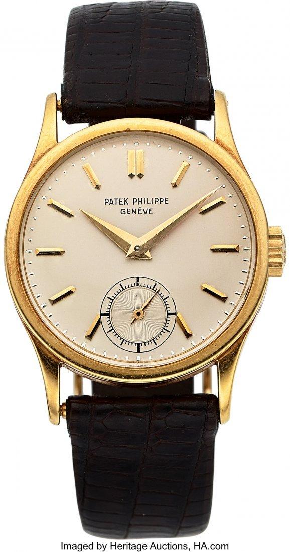 54270: Patek Philippe Ref. 96, 18k Gold Calatrava, Circ