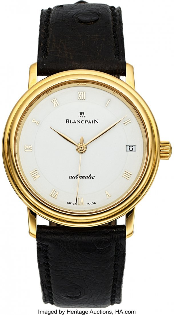 54016: Blancpain 18k Gold Automatic Villeret With Date