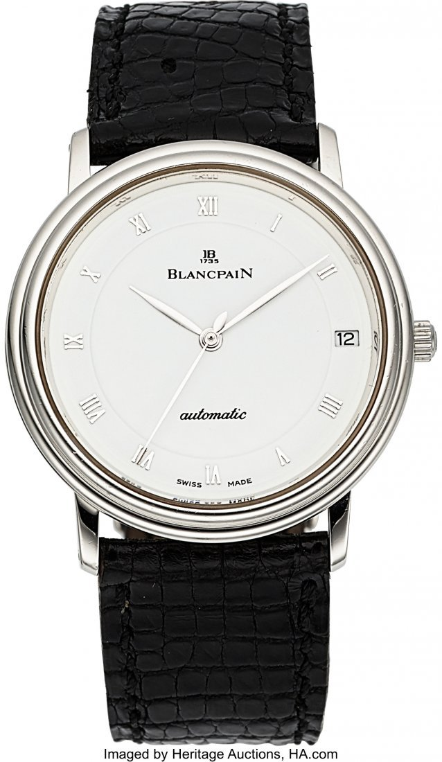 54017: Blancpain Villeret Platinum Automatic With Date